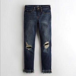 Hollister Low Rise Super Skinny Crop Denim Jeans